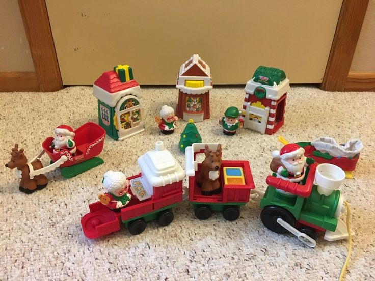 Fisher Price Little People Santa's North Pole Village and Train. #FisherPrice