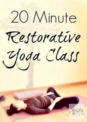An awesome 20 minute restorative yoga sequence for relaxation & rejuvenation! #yogaclass #yogaonline #yogavideo