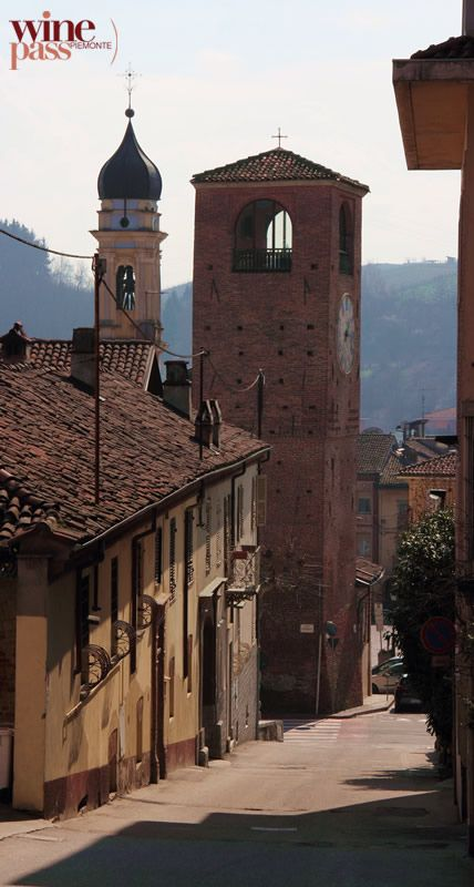 Canale's weekly fresh fruit & vegetable market can be traced as far back as the early 1200s! Who knows how long it went one before anything was even recorded? This is a bell tower in Canale. Roero wine zone, Piemonte, Italy