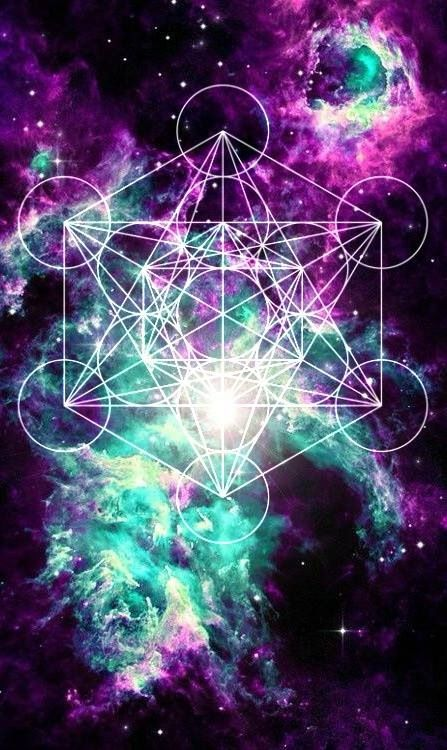 Metatrons Cube and nebula<3