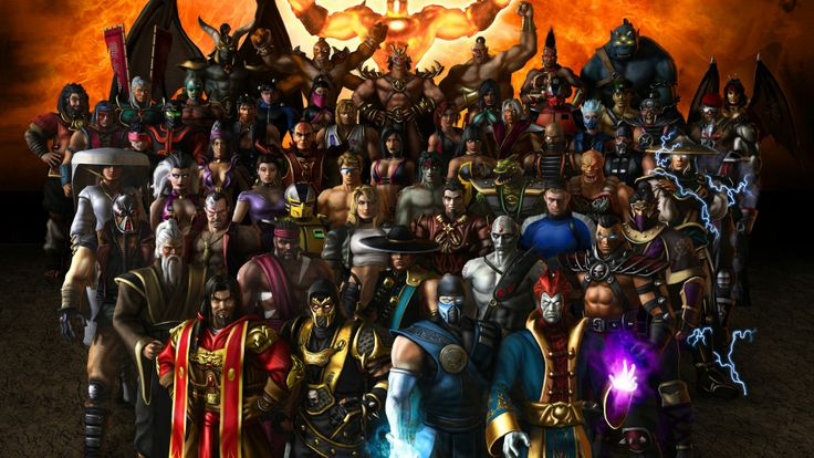 Download Mortal Kombat Characters Faces Magic Sky Wallpaper « Kuff Games