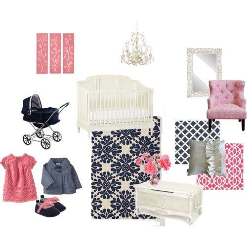 I Adore Navy And Pink Might Have To A Boy Just Avoid My Indecisiveness About S Nursery Color Palette