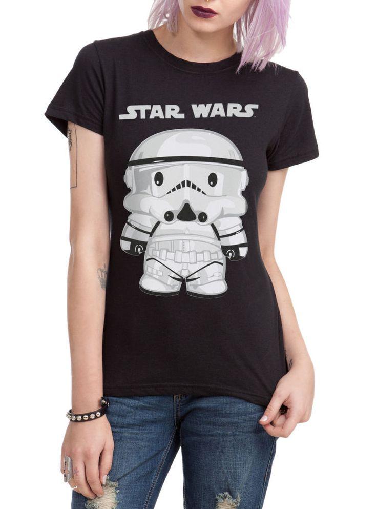 STAR WARS Stormtrooper CHIBI TEE Womens GIRLS T Shirt DARK SIDE Storm  Trooper #STARWARS #