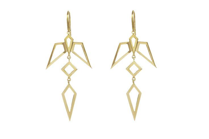 Condor earrings (yellow gold)