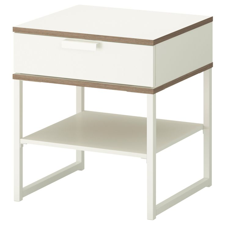 TRYSIL Table chevet - blanc/gris clair - IKEA