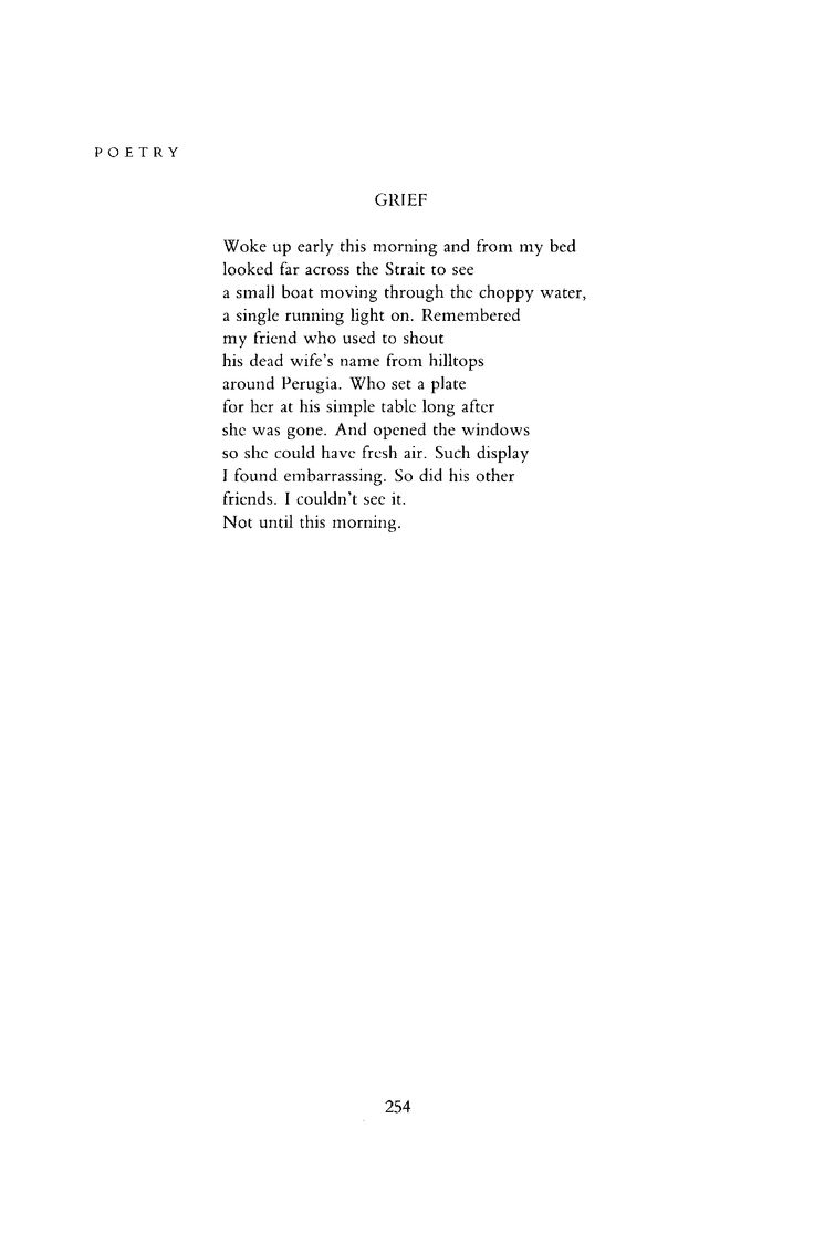 """Grief"" by Raymond Carver"