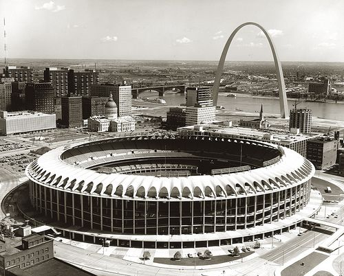 Old Busch Stadium -- Went to games there. If you maintained a straight A average in high school, you could get free tickets to a couple games a year.