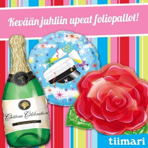 Ihana foliopallot Tiimarista! Kurkkaa myös uusi kevätlehtemme: http://www.virtualmagnet.eu/magnet/asiakkaat/Tiimari/tiimari_kevatlehti.html