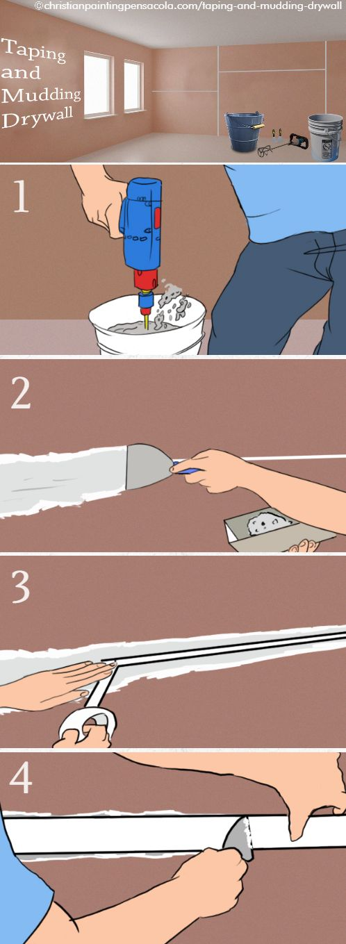Taping and mudding drywall is a simple part of the drywall installation procedure. If you follow the proper steps, you can do a beautiful job on it too.