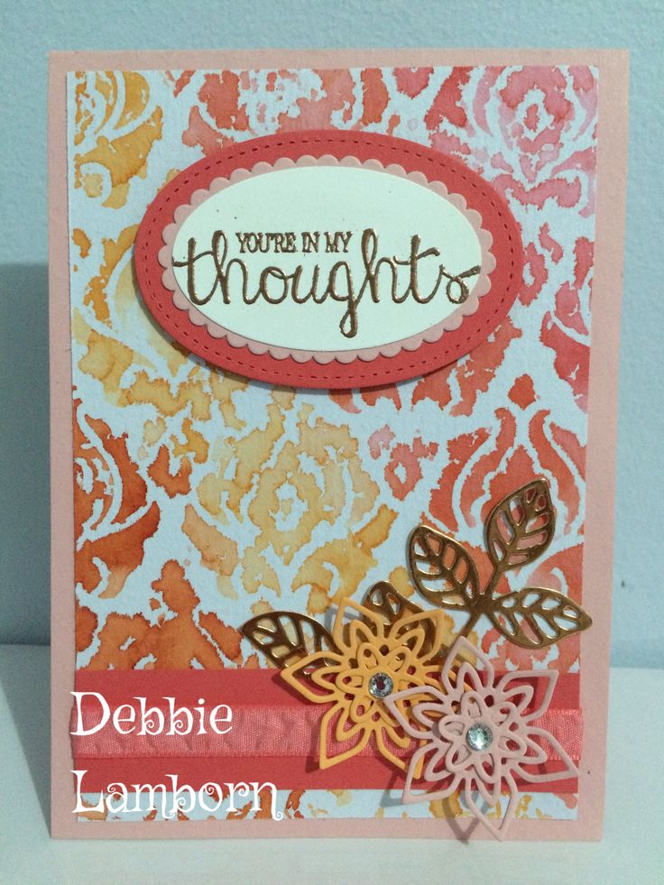Embossing folder stamping with ink