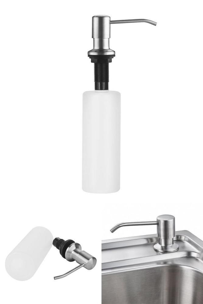 built in countertop sink soap dispenser pump stainless steel liquid soap lotion