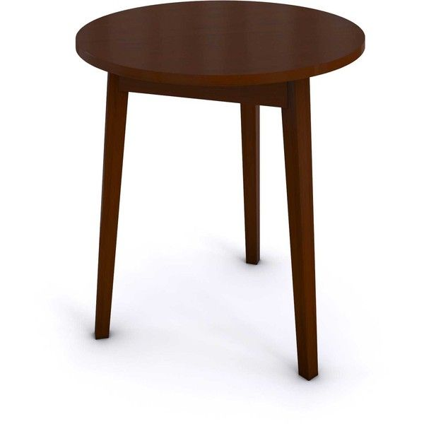 Porch & Den LoDo Speer Circle Cherry Finish Wood Table (435 PEN) ❤ liked on Polyvore featuring home, furniture, tables, brown, cherrywood furniture, brown's furniture, cherry table, cherry furniture and cherry wood furniture
