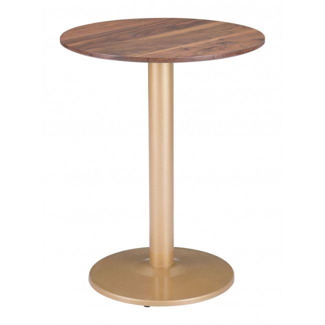 101570 Alto Bistro Table Brown Gold Bistro Table Zuo Modern Contemporary Coffee Table