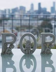 Grave Ornaments - POP Cherub Alphabet Letters