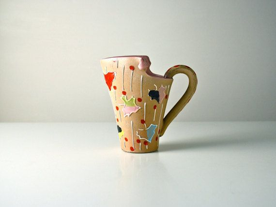 Italian retro jug. Abstract leaf design. Kitsch by AnEyeOnStyle