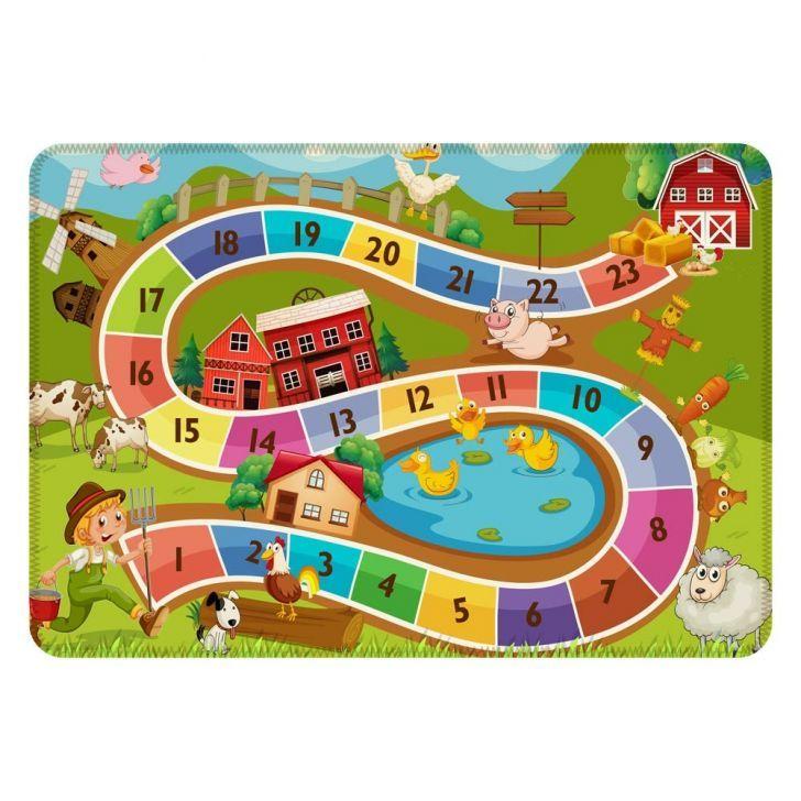 Tapete De Atividades Infantil Fazendinha Unico 90x125 Atividades Infantis Tapete De Atividades Infantil Jogos De Tabuleiro Para Criancas
