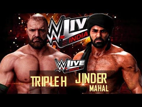 WWE Live India Event Triple H vs Jinder Mahal 12/9/17 – 9th December 2017 Full Show - YouTube