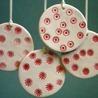 Ceramic christmas baubles