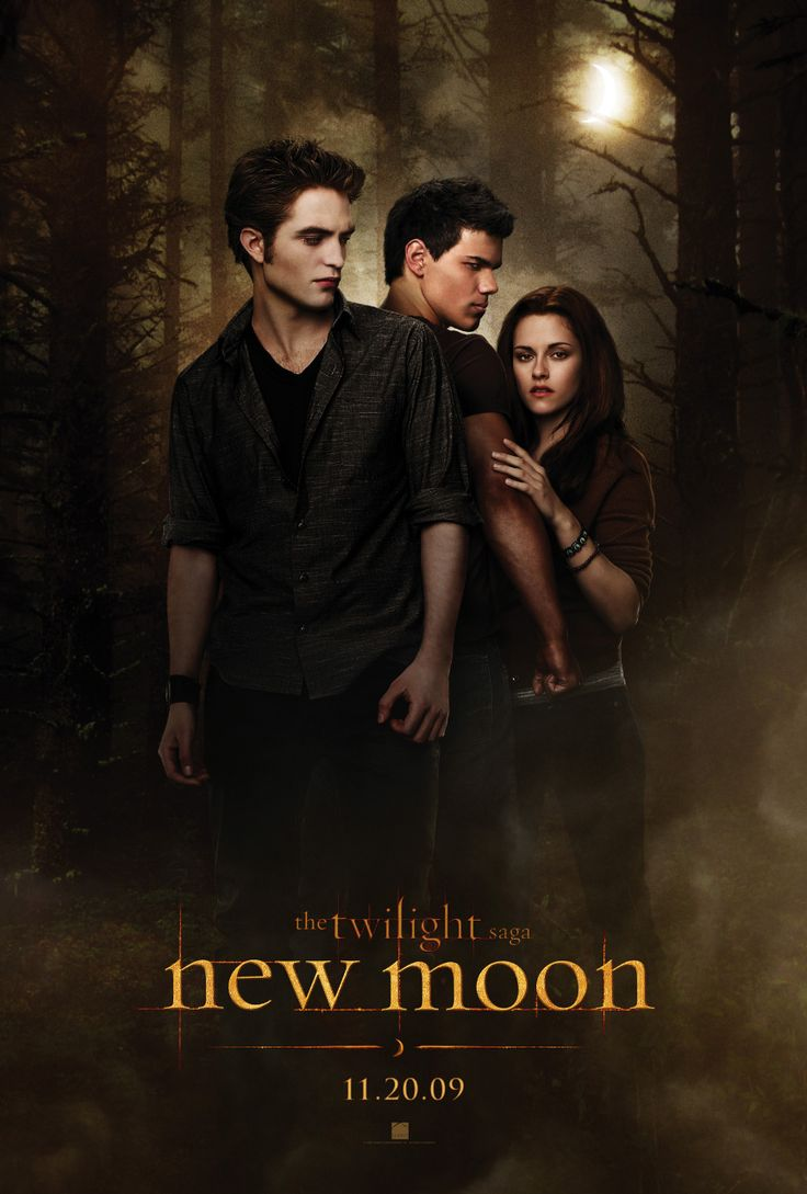 "New Moon - American romantic fantasy film, based on a novel of the same name, the second instalment in ""The Twilight Saga"" film series, 2009"