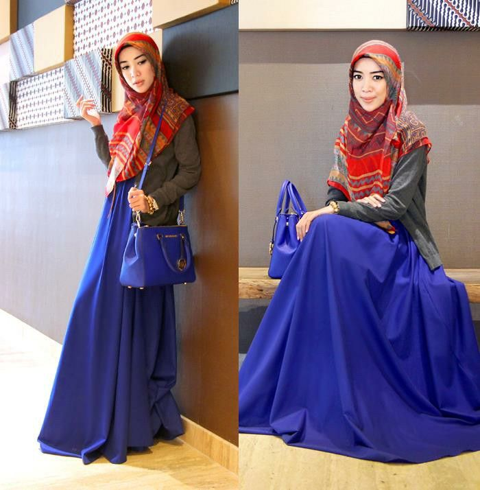 Try to be more syar'i by wearing simple and modest fashion. (fashion by Kivitz)