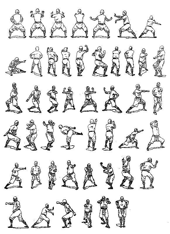Движение кунг фу в картинках