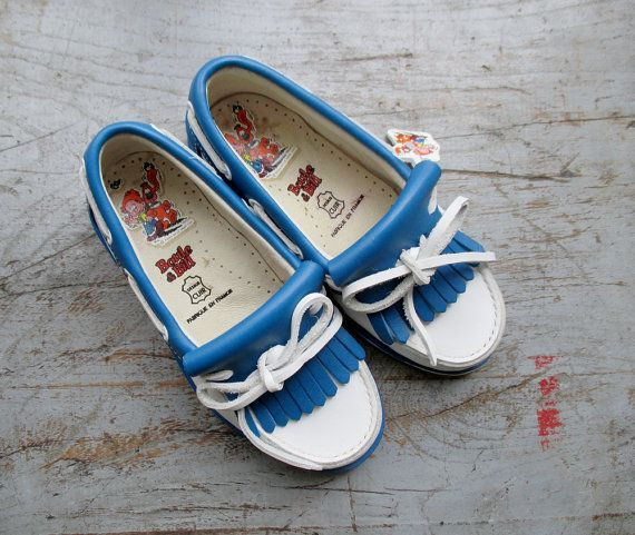 French vintage 70's / kids shoes / mocassins by Prettytidyvintage, €37.50