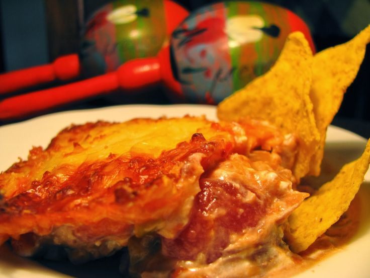Pasta de feijão frito com  queijo Philadelphia - Sabor a México