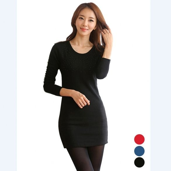 Material: Cotton Blend + Lint + Wool 3 Colors: Red, Black, Blue Collar: O-Neck Sleeve: Long Sleeve Style: Jumpers Pattern: None Length: Hip Length Occasion: Casual, Party Garment Care: Hand-wash, Machine Washable and Dry Clean Unique style, make you more beautiful, fashion, sexy and elegant. 3 Sizes available: Asian M (US S(4) ,UK 6, AU 8) Asian L (US M(8-10),UK 10, AU 12) Asian XL (US L(12),UK 14, AU 16) Size: There are 3 sizes (M, L, XL) available for the following listing. please allow…