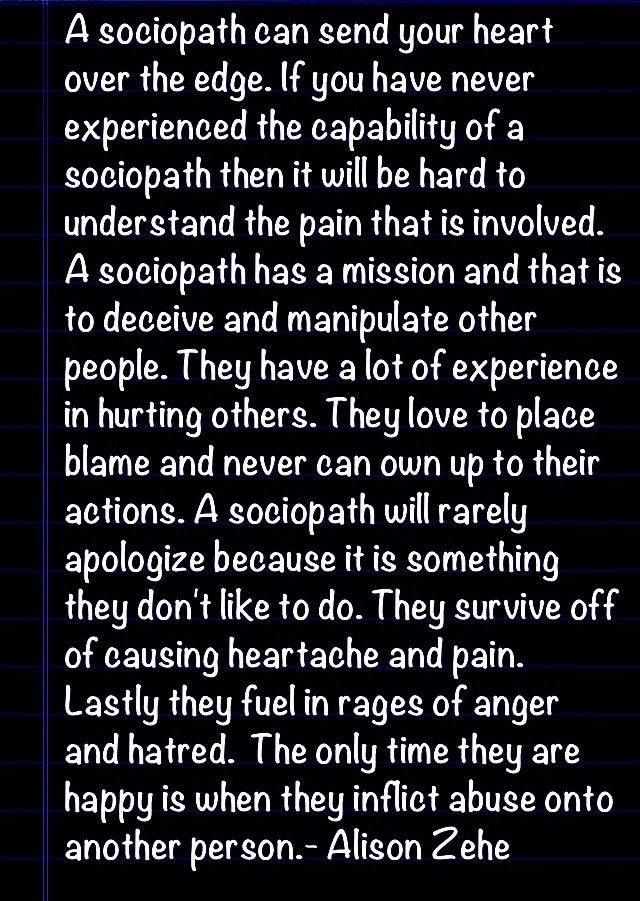 what to do after dating a sociopath How do i get over being used by a sociopath dr george simon, phd  i have just gotten out of a relationship with someone who i think is a sociopath his main.