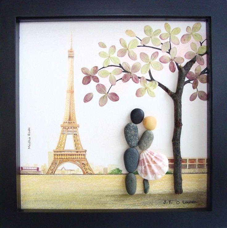 Custom Engagement Gift - Personalized Wedding Gift - Couple's Gift - Bride Groom Gift - Pebble Art by MedhaRode www.etsy.com/shop/MedhaRode