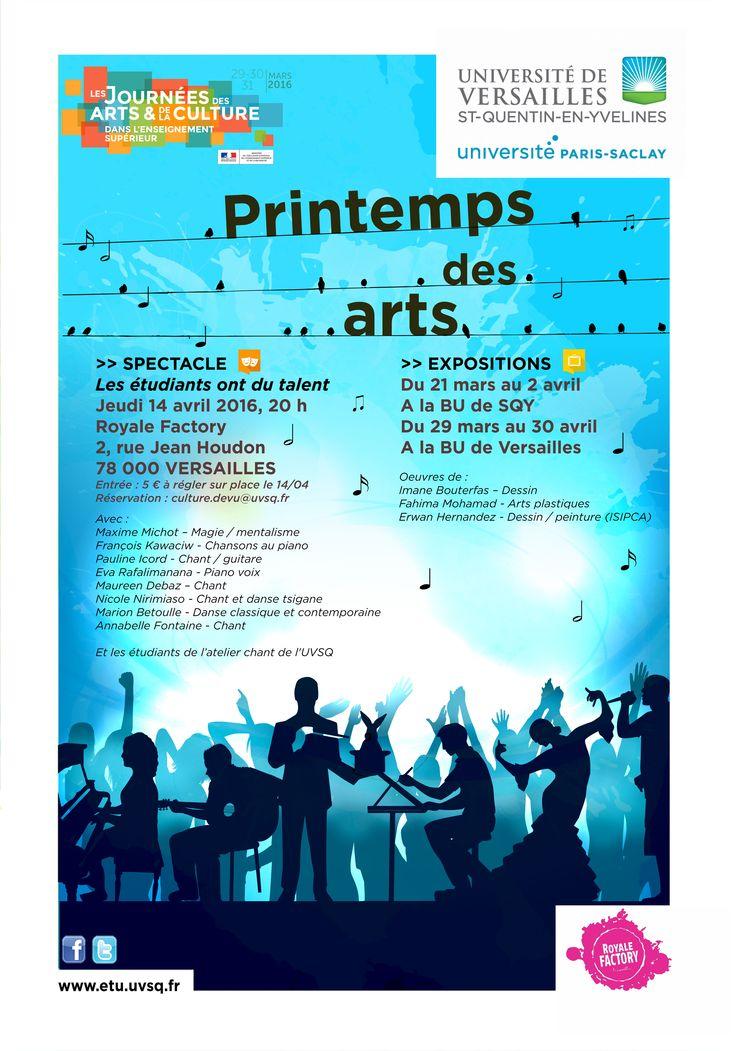 © Université de Versailles St-Quentin-en-Yvelines - DEVU  Journées des arts et de la culture dans l'enseignement supérieur