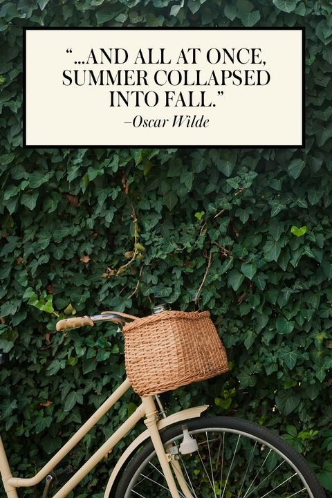 """""""...and all at once...summer collapsed into fall."""" #OscarWilde #bookishquote - 13 End-of-Summer Quotes That Will Help You Welcome Fall"""