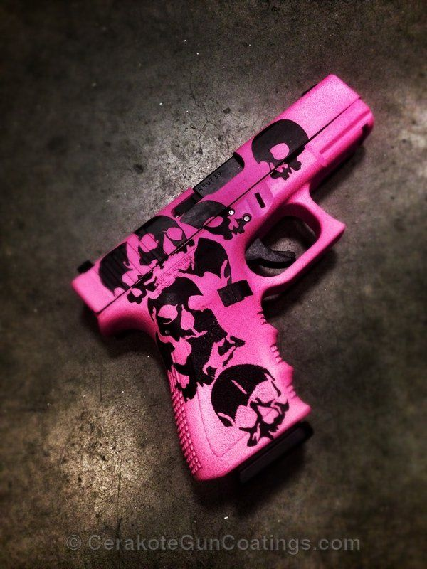 Sick pistol painted with #cerakote pink and black. Find out how to get his on your gun at titanguncoatings.com