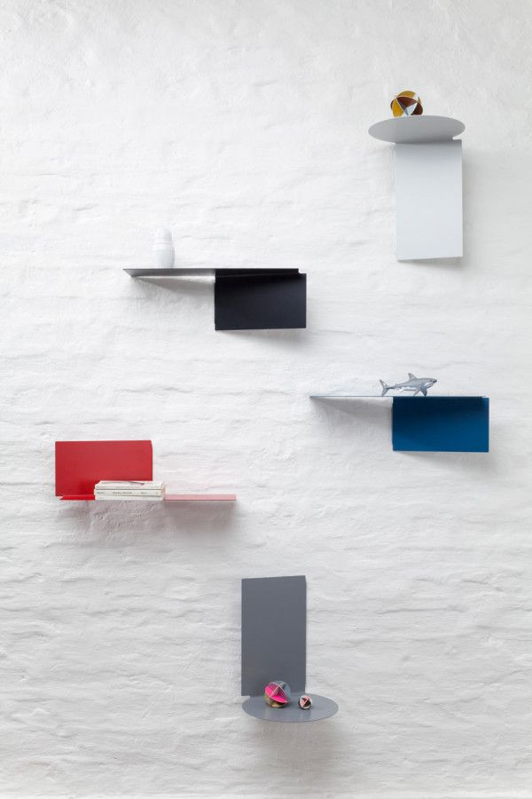 Plateau floating shelves by Felix Klingmüller for ECHTSTAHL