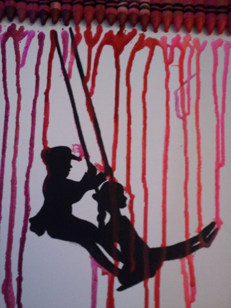 Melted Crayon Art.