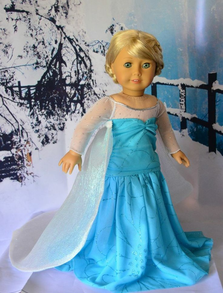 """Disney Frozen Elsa Dress, Outfit, Clothes for 18"""" American Girl -Lumi -- SOLD"""