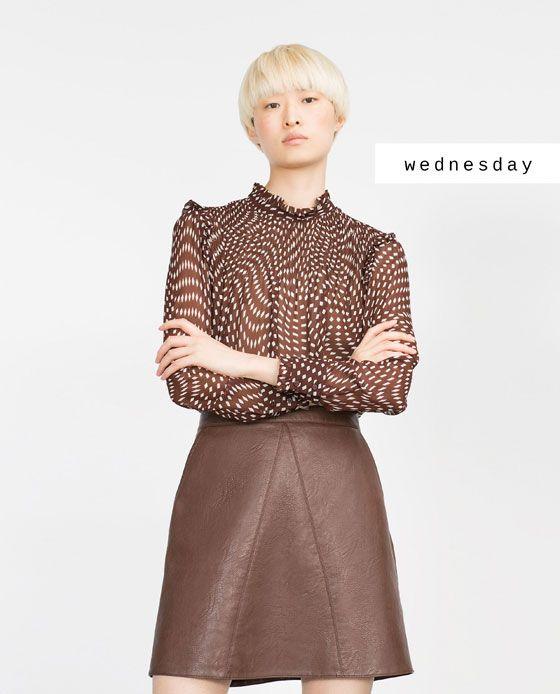 #zaradaily #wednesday #woman #shirt #skirt