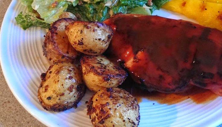 Pommes de terre grelots à l'ail et moutarde à l'ancienne