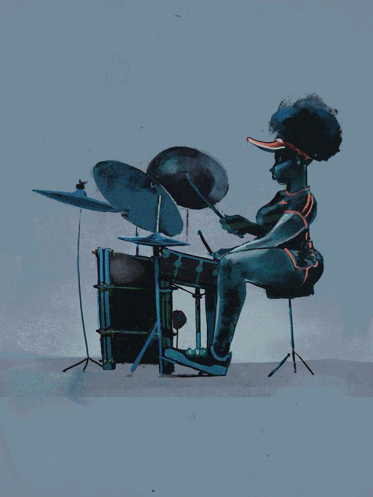 #drummer #character #sportswear #musician #funk #female #femaledrummet #neosoul