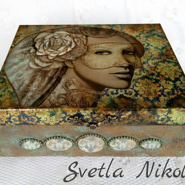 """66 Likes, 1 Comments - Svetla Nikolova (@svetla.nikolova.handmade) on Instagram: """"Box for jewellery ,,Look at me"""" #handmade #handmadedecor #decoration #decor #decoupage #gifts…"""""""