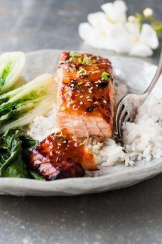 Saumon...marinade asiatique