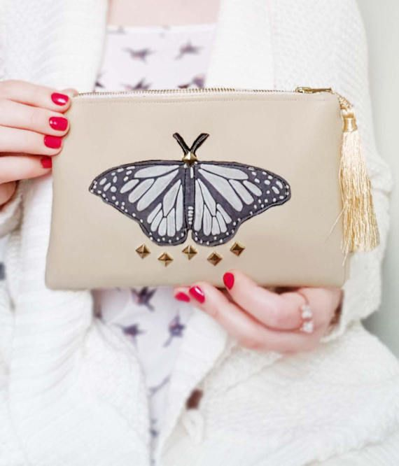 Check out this item in my Etsy shop https://www.etsy.com/uk/listing/502630124/wedding-day-makeup-bag-butterfly-makeup