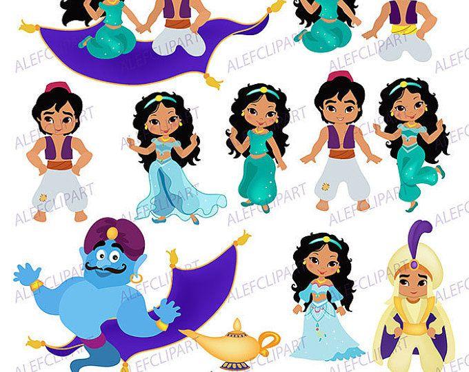 Princesa del desierto, Clip Art - Aladdin - cuento de hadas imágenes prediseñadas para su uso personal y comercial. Gráfico Digital de la princesa del desierto
