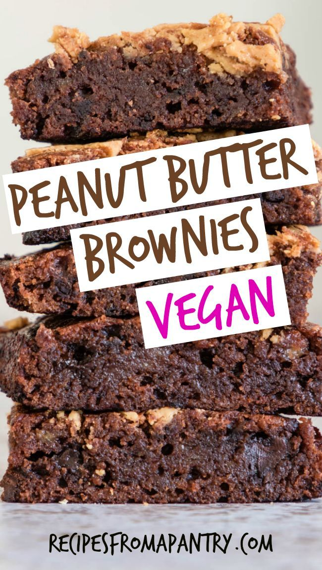 Looking for a sweet and healthy dessert recipe? Try this Peanut Butter Banana Brownies recipe. They're healthy vegan brownies that don't taste healthy at all, plus they're a great way to use up ripe bananas. #vegandesserts #healthydesserts #vegan #veganrecipes via @recipespantry