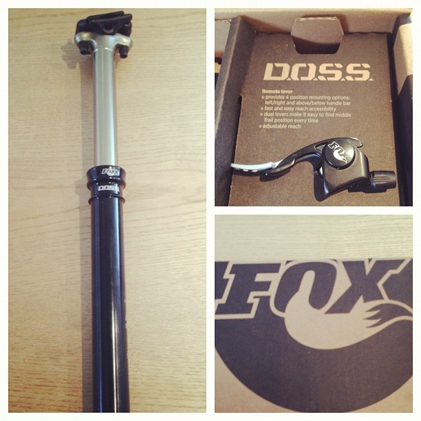 The new Fox DOSS dropper seat post now in stock! £314.10