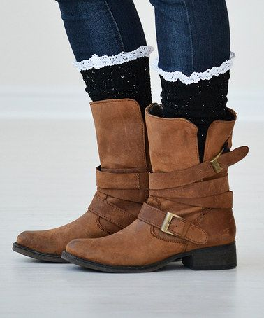 This Black Felicity Knee-High Socks by PeekABootSocks is perfect! #zulilyfinds