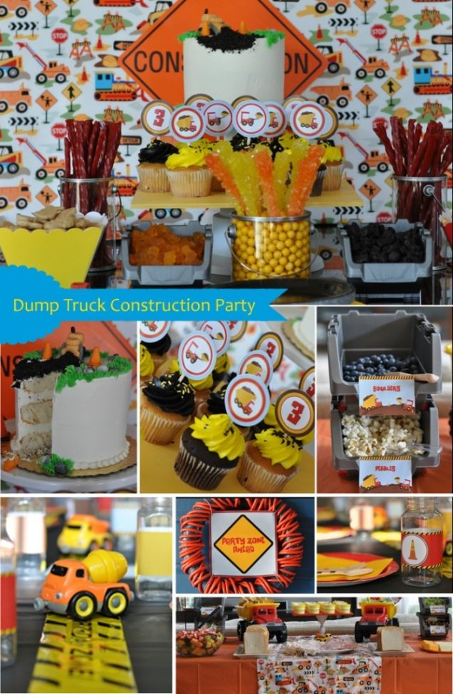 244 best Boys Construction Party images on Pinterest