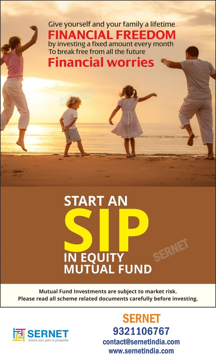 Have a financial freedom by investing in an sip in equity