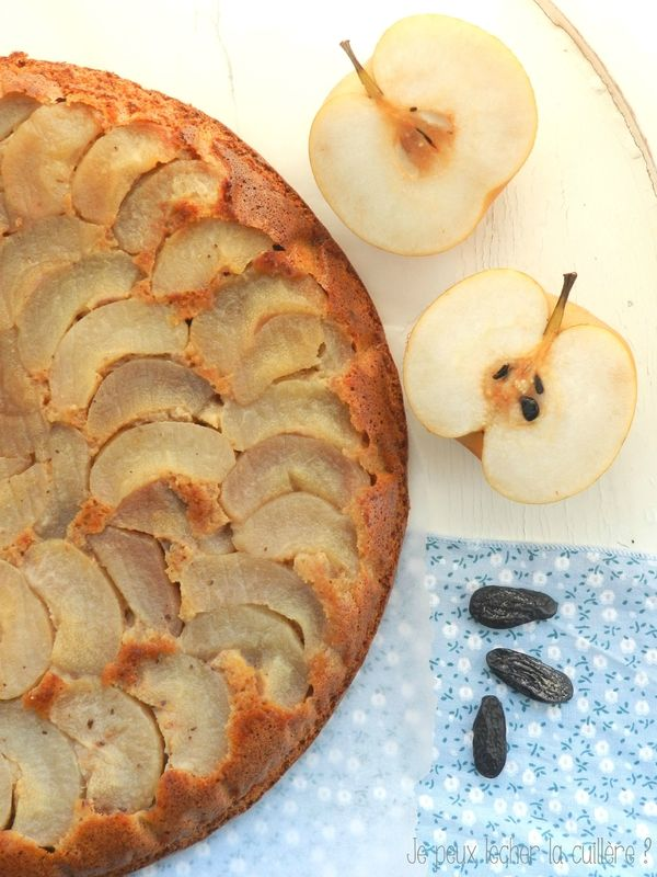 Le gâteau aux nashis et à la fève tonka