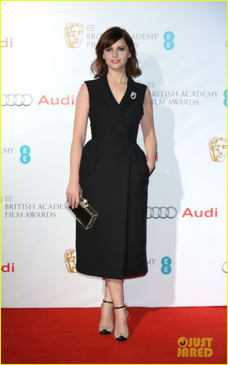 Felicity Jones wearing Dior Haute Couture at the 2015 EE British Academy Awards Nominees Party